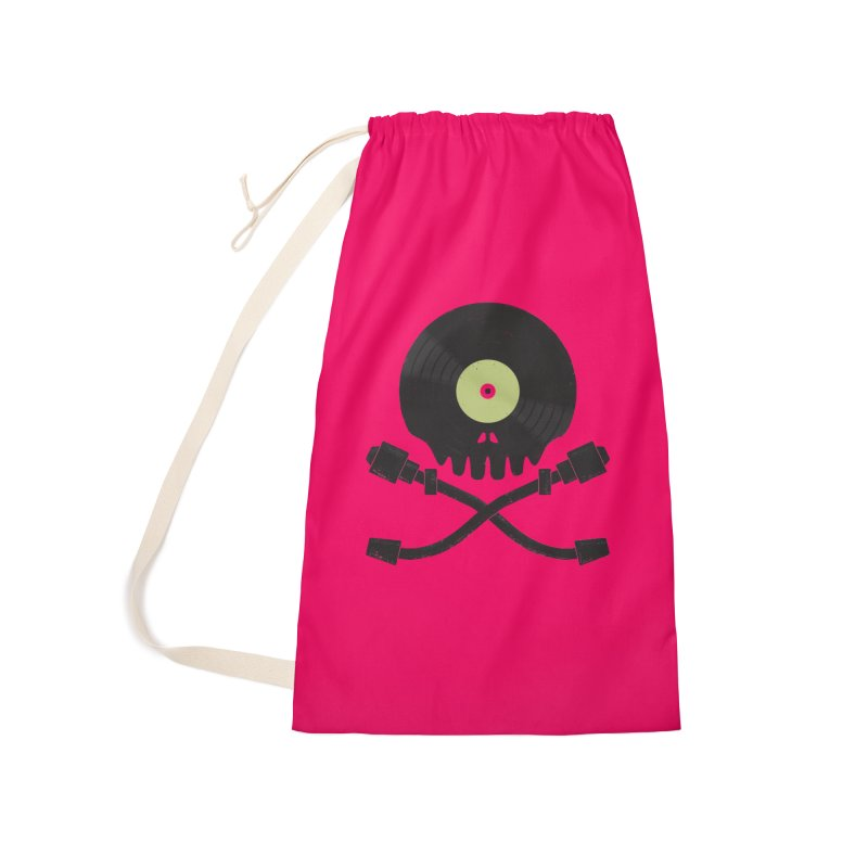 Vinyl till Death Accessories Laundry Bag Bag by Jason Castillo Illustration