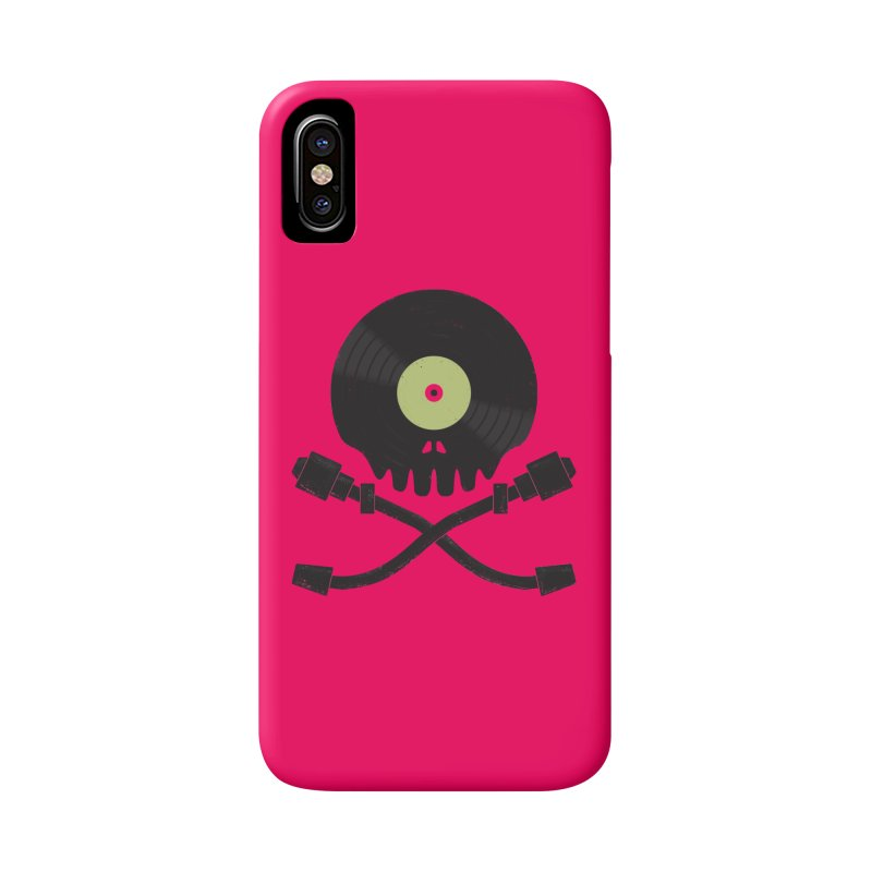 Vinyl till Death Accessories Phone Case by Jason Castillo Illustration