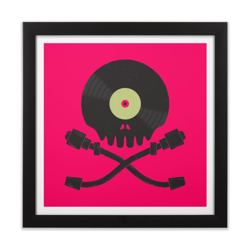 Vinyl till Death Home Framed Fine Art Print by Jason Castillo Illustration
