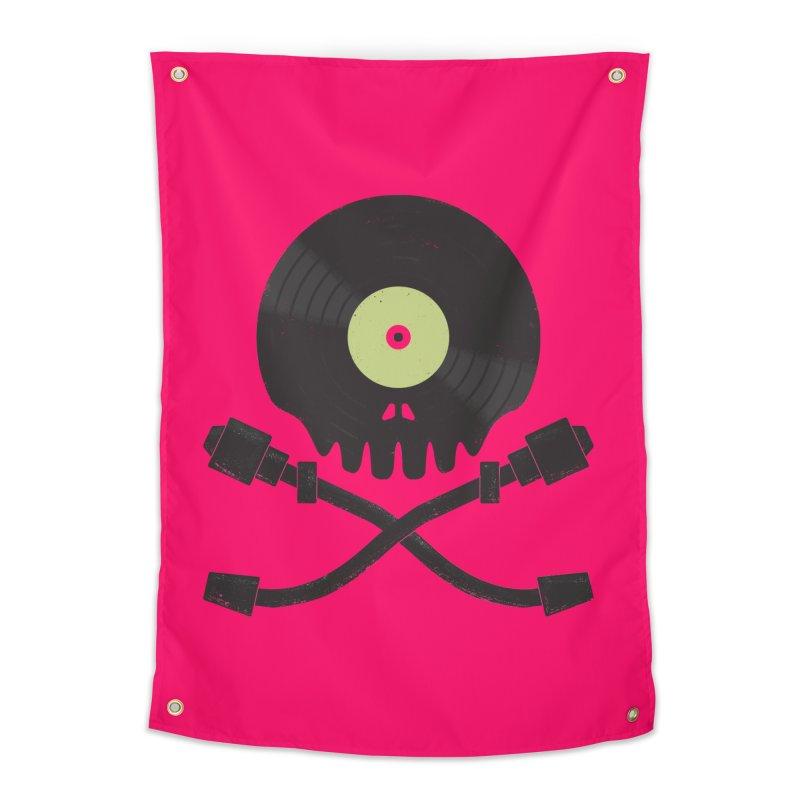 Vinyl till Death Home Tapestry by Jason Castillo Illustration