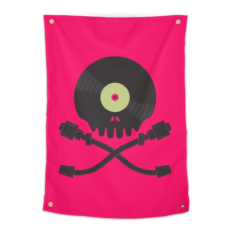 Vinyl till Death Home Tapestry by Jason Castillo Illustration