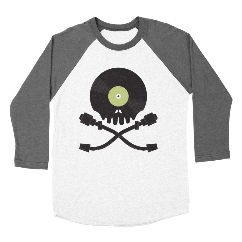 Vinyl till Death Women's Longsleeve T-Shirt by Jason Castillo Illustration