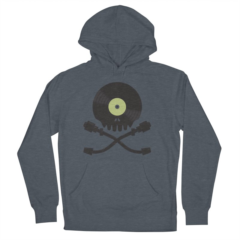 Vinyl till Death Men's French Terry Pullover Hoody by Jason Castillo Illustration