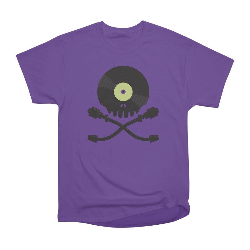 Vinyl till Death Men's Heavyweight T-Shirt by Jason Castillo Illustration