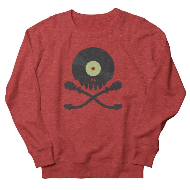 Vinyl till Death Men's French Terry Sweatshirt by Jason Castillo Illustration