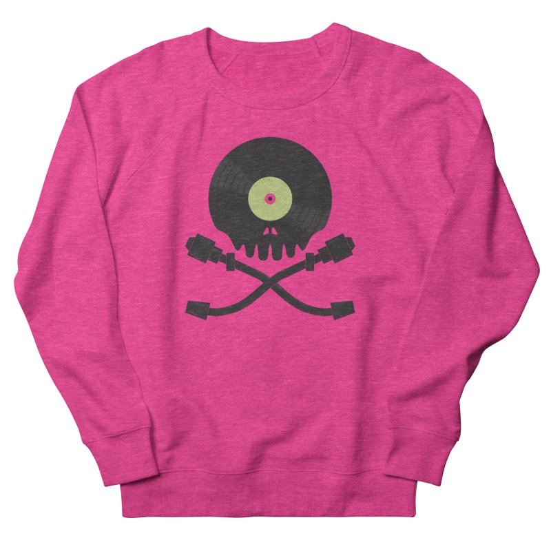 Vinyl till Death Men's French Terry Sweatshirt by Jason Castillo Illustration