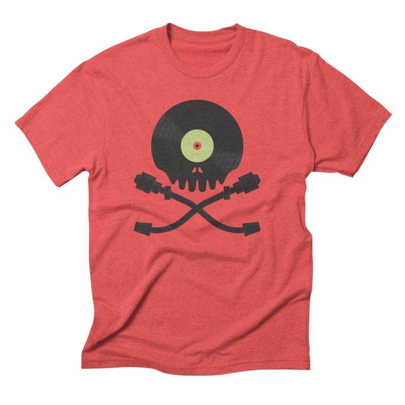 Vinyl till Death Men's Triblend T-Shirt by Jason Castillo Illustration