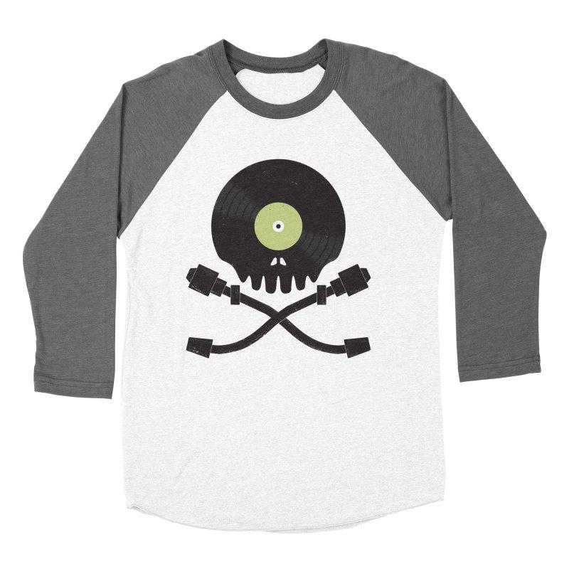 Vinyl till Death Women's Baseball Triblend Longsleeve T-Shirt by Jason Castillo Illustration