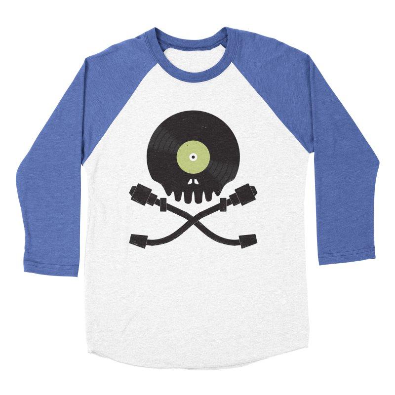 Vinyl till Death Men's Baseball Triblend T-Shirt by Jason Castillo Illustration