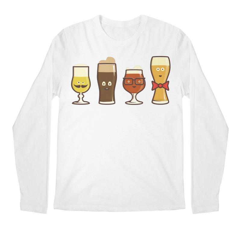 Beer Geeks Men's Longsleeve T-Shirt by Jason Castillo Illustration