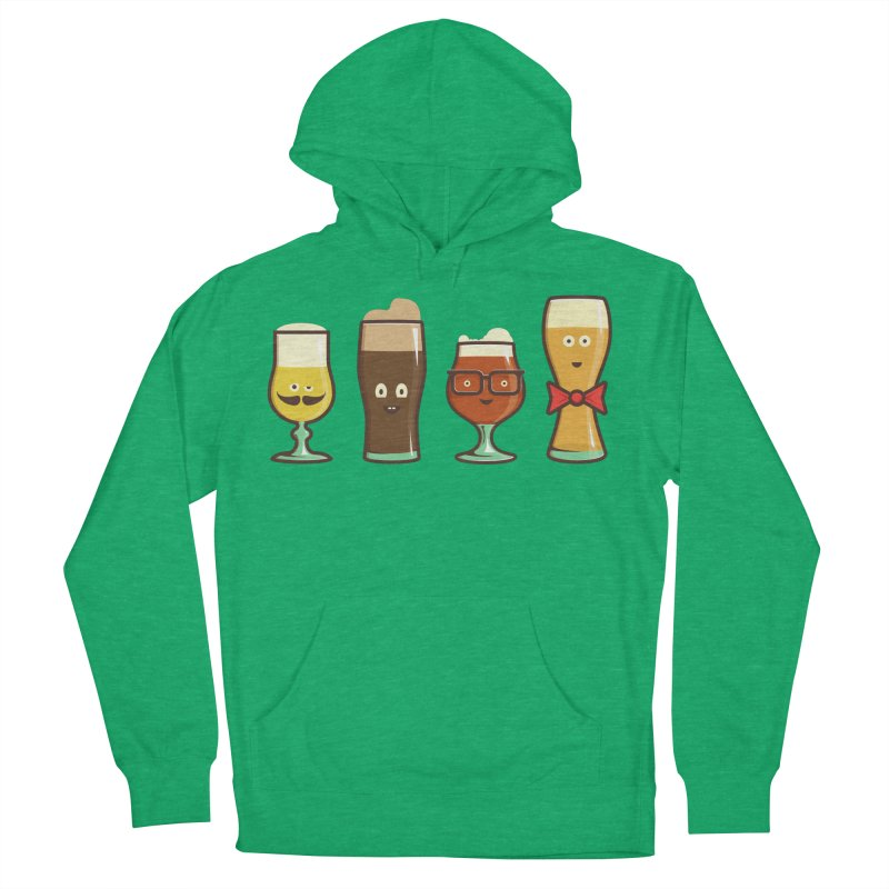 Beer Geeks Women's French Terry Pullover Hoody by Jason Castillo Illustration