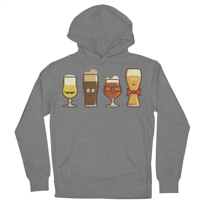 Beer Geeks Men's French Terry Pullover Hoody by Jason Castillo Illustration