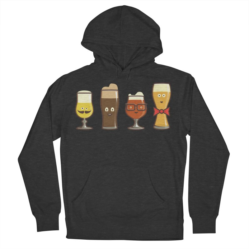 Beer Geeks Men's French Terry Pullover Hoody by Jason Castillo Illustration