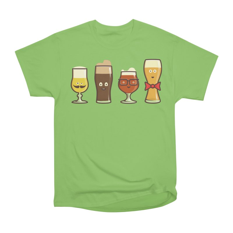 Beer Geeks Women's Heavyweight Unisex T-Shirt by Jason Castillo Illustration