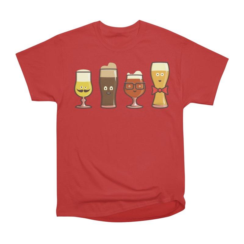 Beer Geeks Women's Heavyweight Unisex T-Shirt by Jason Castillo Illustration