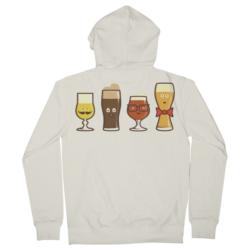 Beer Geeks Men's French Terry Zip-Up Hoody by Jason Castillo Illustration