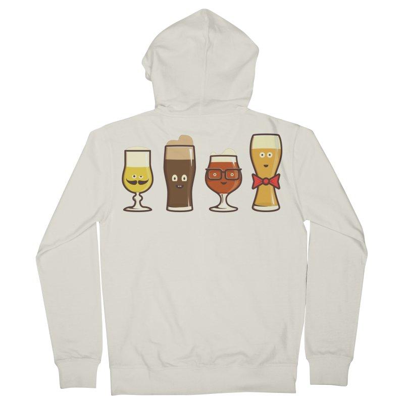 Beer Geeks Men's Zip-Up Hoody by Jason Castillo Illustration