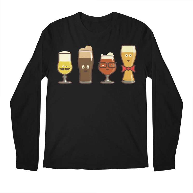 Beer Geeks Men's Longsleeve T-Shirt by Jason Castillo Illustration