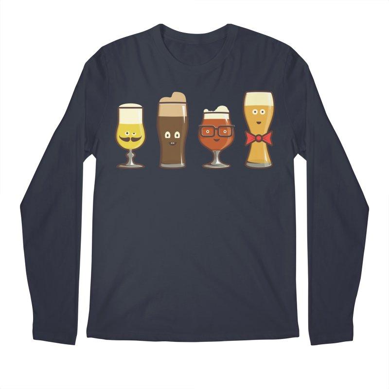 Beer Geeks Men's Regular Longsleeve T-Shirt by Jason Castillo Illustration