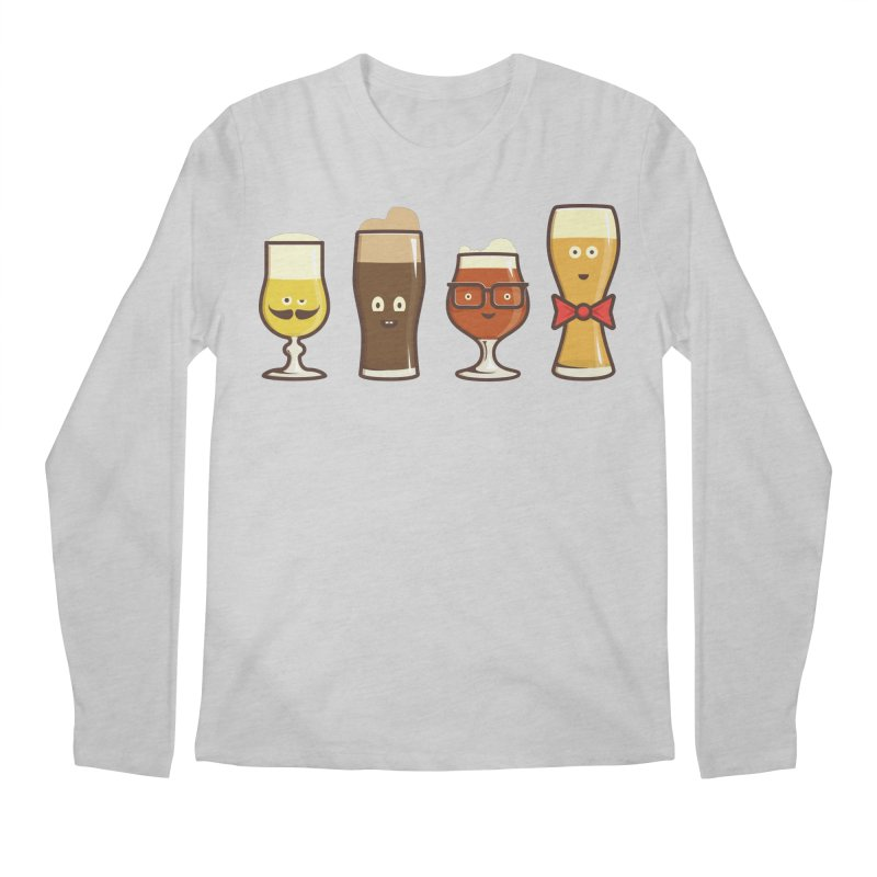 Beer Geeks Men's Regular Longsleeve T-Shirt by Jason Castillo Illustration