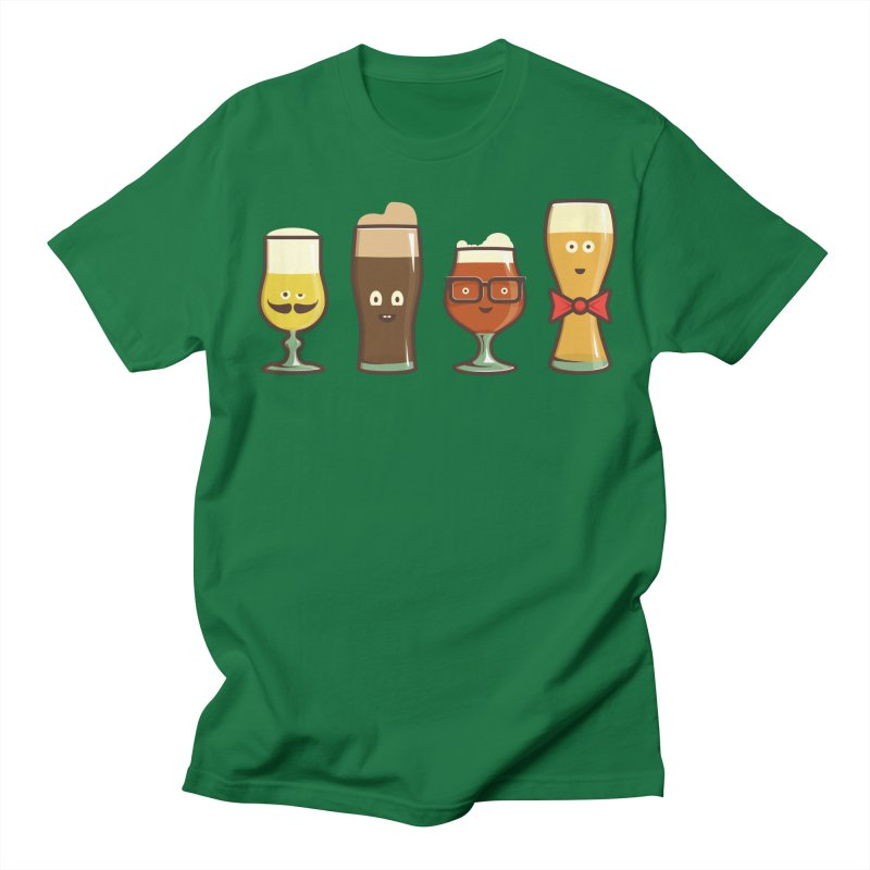 Beer Geeks Men's Regular T-Shirt by Jason Castillo Illustration