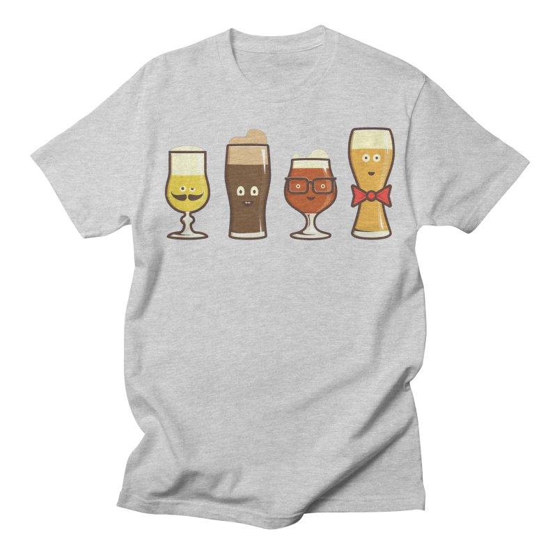 Beer Geeks Women's Regular Unisex T-Shirt by Jason Castillo Illustration