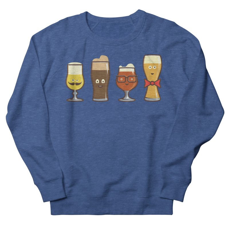 Beer Geeks Women's French Terry Sweatshirt by Jason Castillo Illustration