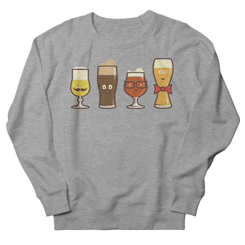 Beer Geeks Men's French Terry Sweatshirt by Jason Castillo Illustration