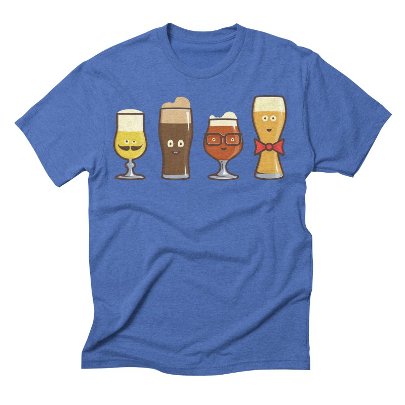 Beer Geeks Men's Triblend T-Shirt by Jason Castillo Illustration