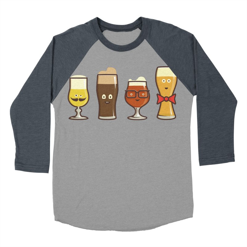 Beer Geeks Women's Baseball Triblend Longsleeve T-Shirt by Jason Castillo Illustration