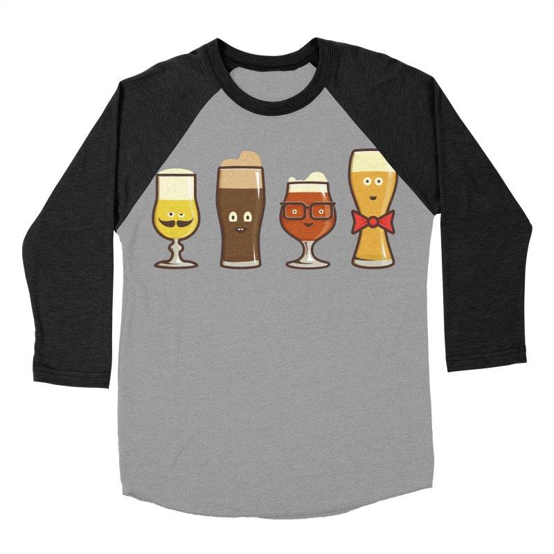 Beer Geeks Men's Baseball Triblend T-Shirt by Jason Castillo Illustration