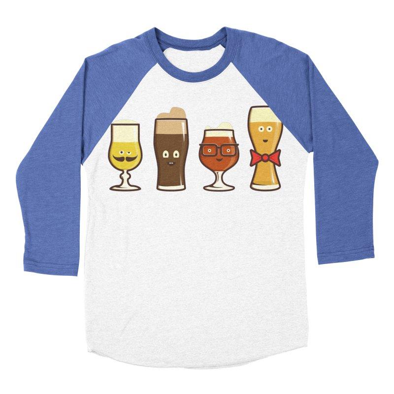 Beer Geeks Men's Baseball Triblend Longsleeve T-Shirt by Jason Castillo Illustration
