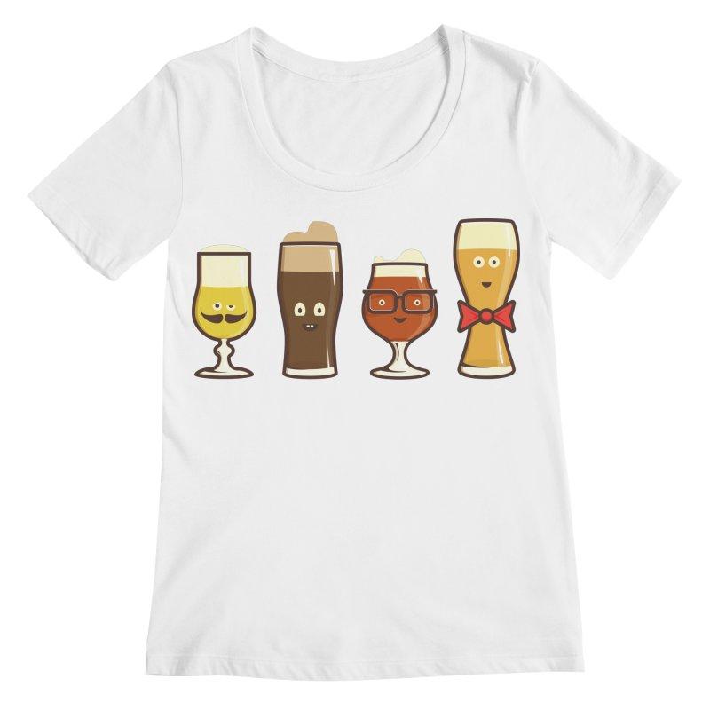 Beer Geeks Women's Regular Scoop Neck by Jason Castillo Illustration