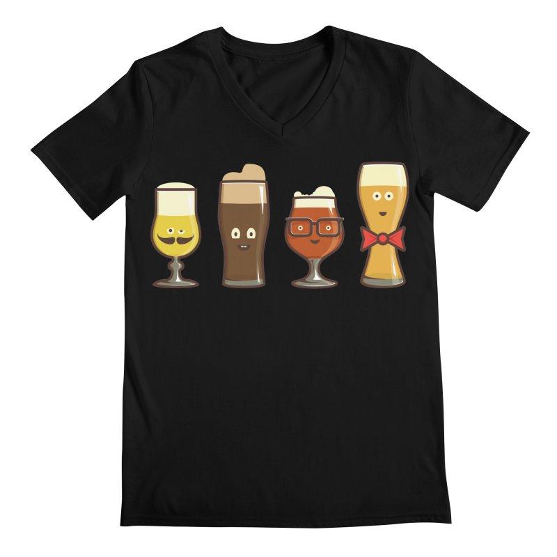 Beer Geeks Men's Regular V-Neck by Jason Castillo Illustration