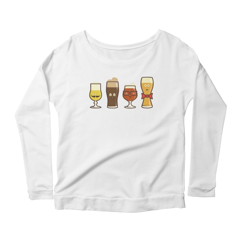 Beer Geeks Women's Scoop Neck Longsleeve T-Shirt by Jason Castillo Illustration