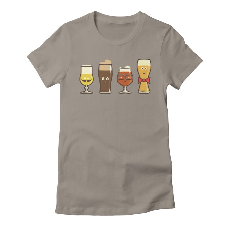 Beer Geeks Women's Fitted T-Shirt by Jason Castillo Illustration