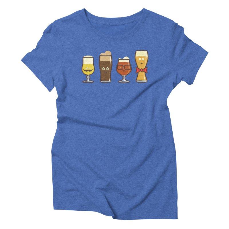 Beer Geeks Women's Triblend T-Shirt by Jason Castillo Illustration