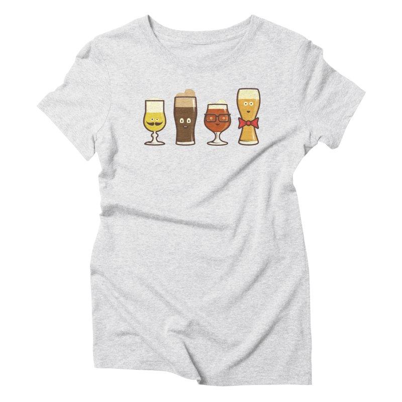 Beer Geeks Women's T-Shirt by Jason Castillo Illustration