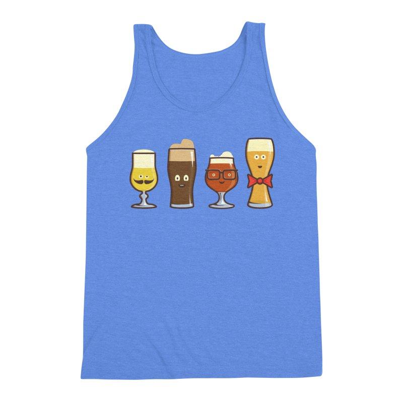 Beer Geeks Men's Triblend Tank by Jason Castillo Illustration