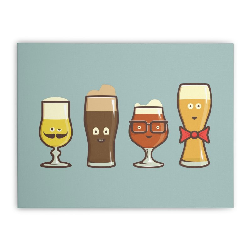 Beer Geeks Home Stretched Canvas by Jason Castillo Illustration