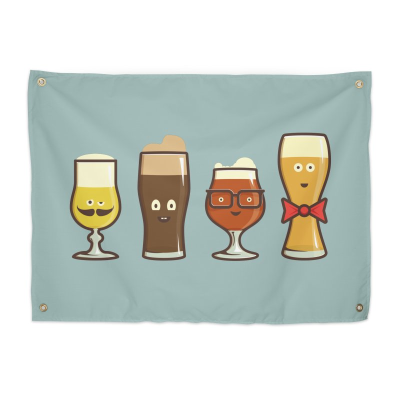 Beer Geeks Home Tapestry by Jason Castillo Illustration