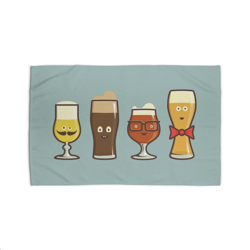 Beer Geeks Home Rug by Jason Castillo Illustration