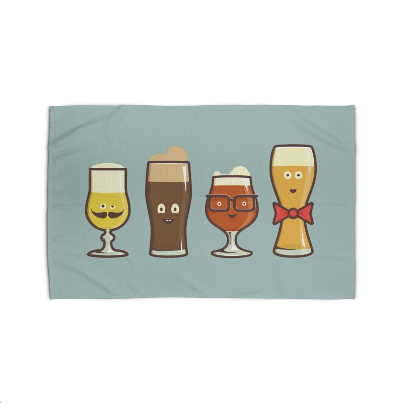 Beer Geeks Home Rug by Jason Castillo Illustration