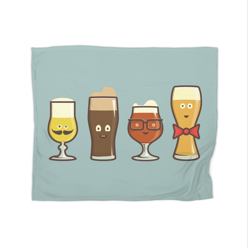 Beer Geeks Home Blanket by Jason Castillo Illustration