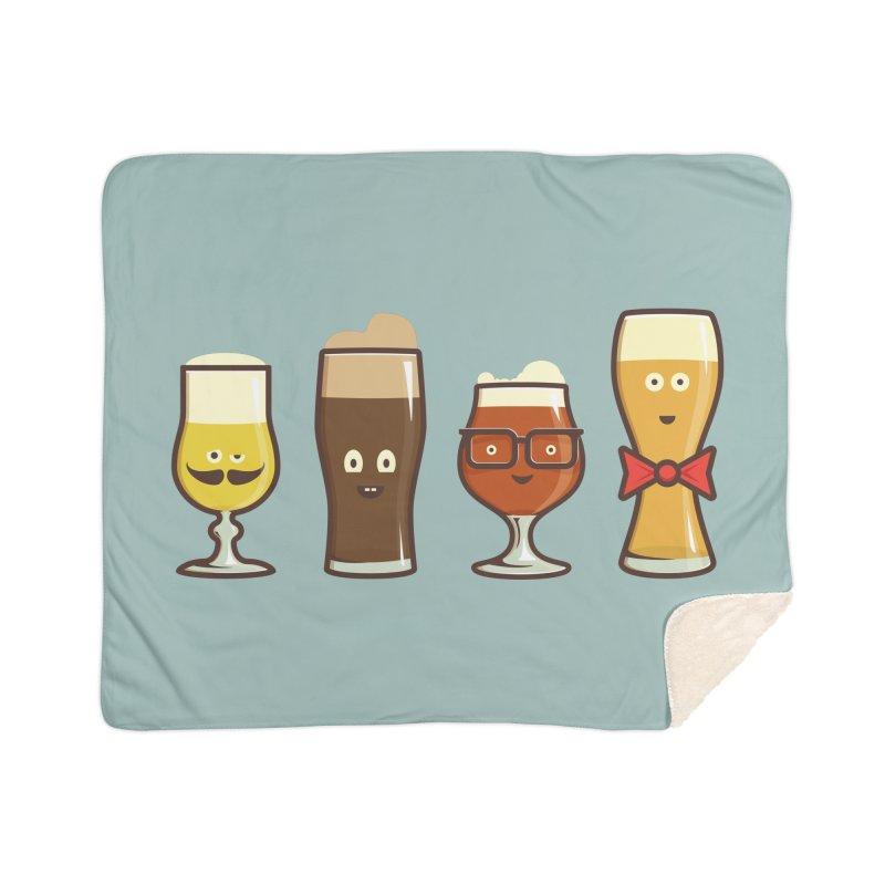 Beer Geeks Home Sherpa Blanket Blanket by Jason Castillo Illustration