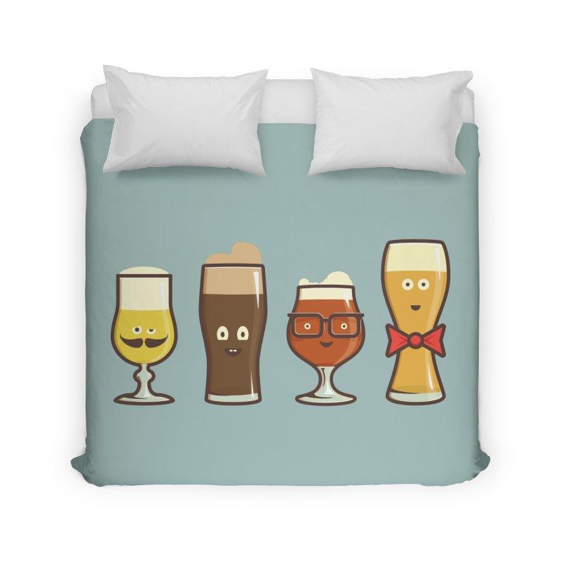 Beer Geeks Home Duvet by Jason Castillo Illustration