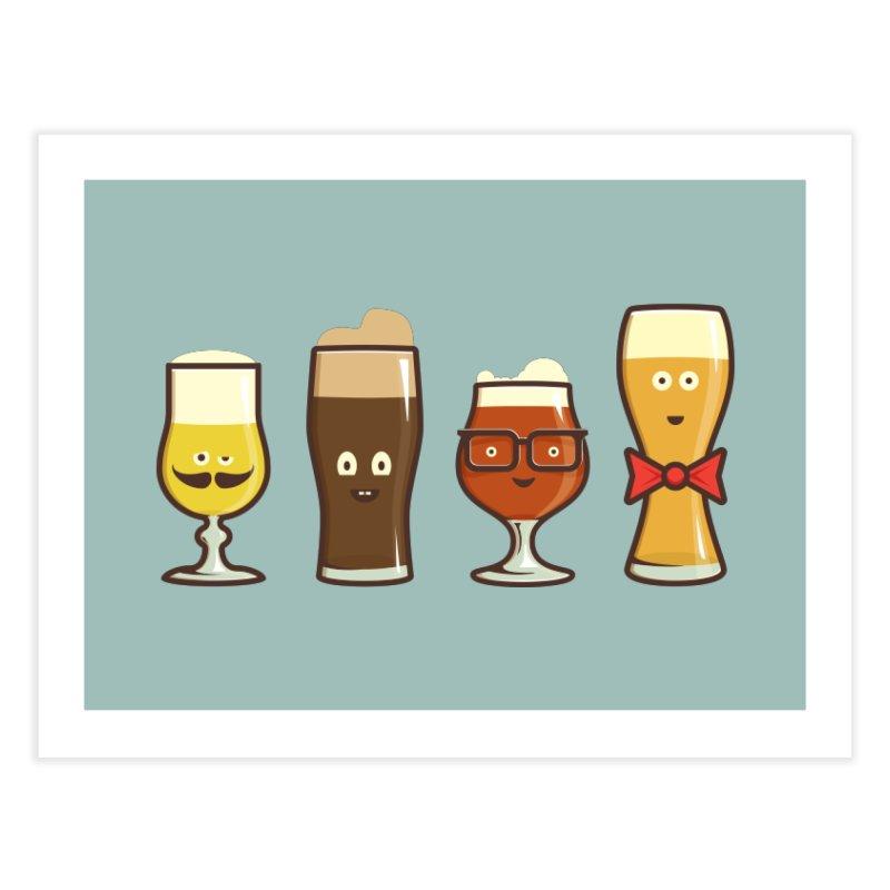 Beer Geeks Home Fine Art Print by Jason Castillo Illustration