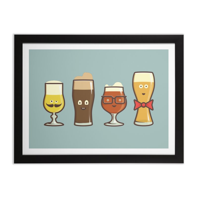 Beer Geeks Home Framed Fine Art Print by Jason Castillo Illustration