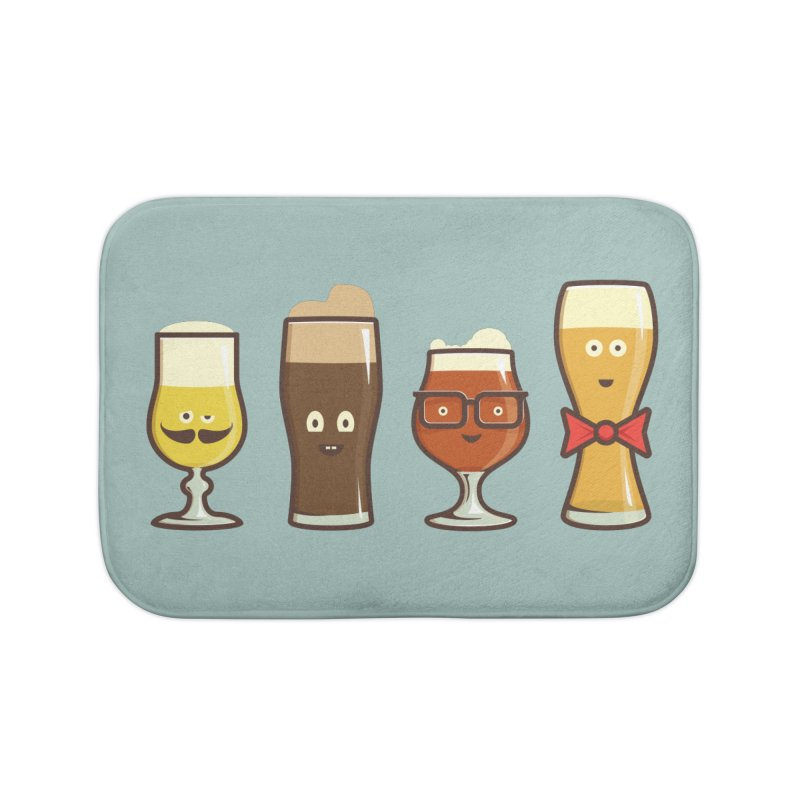 Beer Geeks Home Bath Mat by Jason Castillo Illustration