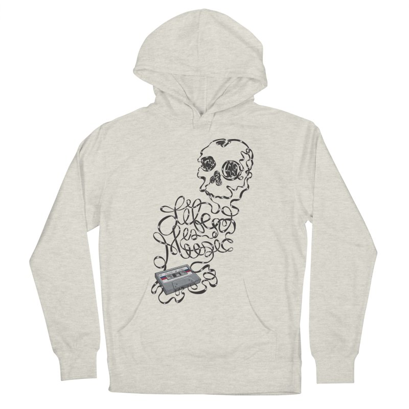 Music is Life Women's French Terry Pullover Hoody by Jason Castillo Illustration